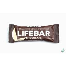 Lifebar csokoládés nyers vegán energiaszelet (bio, paleo) 47 g