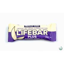 Lifebar plus áfonya + quinoa nyers vegán bio superfood szelet 47 g