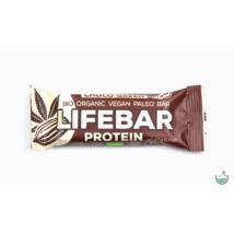 Lifebar plus csokoládés növényi proteines nyers vegán bio superfood szelet 47 g