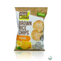 Rice UP! sajtos ízesítésű barna rizs chips 60 g