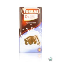 Torras tejcsokoládé hozzáadott cukor nélkül 75 g