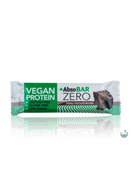 AbsoBAR ZERO csokoládés brownie ízesítésű fehérjeszelet 40 g (vegán, gluténmentes)