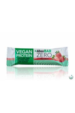 AbsoBAR ZERO eper ízesítésű fehérjeszelet 40 g (vegán, gluténmentes)
