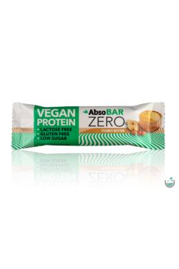 AbsoBAR ZERO Mogyoróvaj ízesítésű fehérjeszelet 40 g (vegán, gluténmentes)