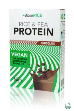 AbsoRICE csokoládé ízű vegán fehérjepor 500 g (gluténmentes)
