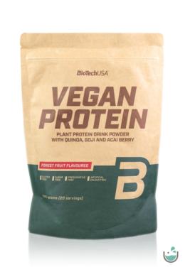 BioTech USA erdei gyümölcsös ízű vegán fehérjepor (gluténmentes) 500 g