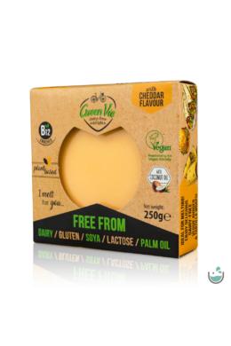 GreenVie Cheddar ízesítésű növényi sajthelyettesítő 250 g