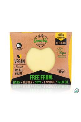 Green Vie Gouda ízesítésű szeletelt növényi sajthelyettesítő 180 g