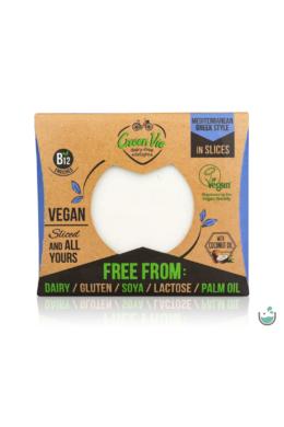 GreenVie Mediterrán ízesítésű szeletelt növényi sajthelyettesítő 180 g