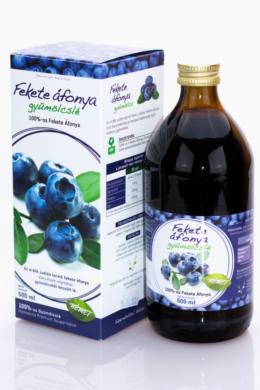 Mannavita Fekete Áfonya lé 100%-os, 500 ml