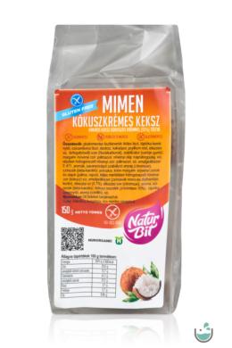 MiMen Kókuszkrémes keksz (vegán, gluténmentes) 150 g