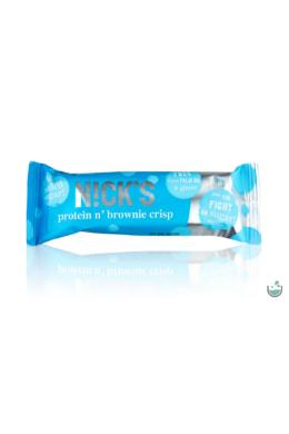 N!ck's protein n' brownie crips -  gluténmentes ropogós brownies fehérjeszelet 50 g