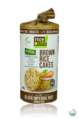 Rice UP! Natúr puffasztott teljes kiőrlésű barna rizs szelet fekete rizzsel 120 g