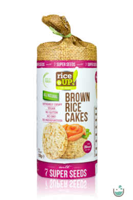 Rice UP! Puffasztott teljes kiőrlésű barna rizs szelet 7 szupermaggal 120 g
