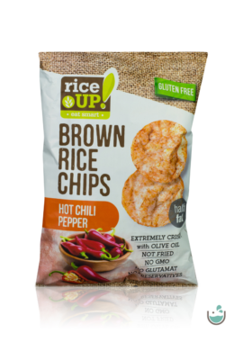 Rice UP! csípős chili paprika ízesítésű barna rizs chips 60 g