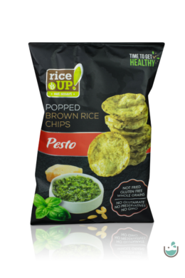 Rice UP! pesto ízesítésű barna rizs chips 60 g
