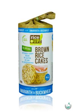 Rice UP! puffasztott teljes kiőrlésű barna rizs szelet hajdinával és amaránttal 120 g