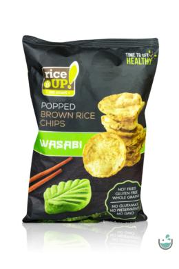 Rice UP! wasabi ízesítésű barna rizs chips (vegán) 60 g