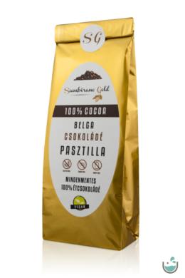 Sambirano Gold – 100% kakaótartalmú belga étcsokoládé pasztilla 100/250 g