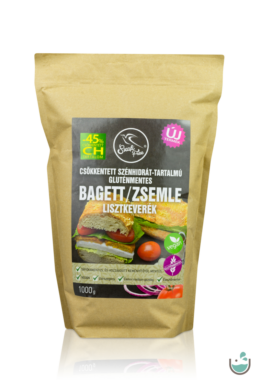 Szafi Free csökkentett szénhidrát-tartalmú gluténmentes bagett/zsemle lisztkeverék 1000 g