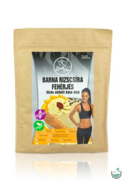 Szafi Free barna rizscsíra fehérjés főzés nélküli kása alap 240 g (gluténmentes, vegán)