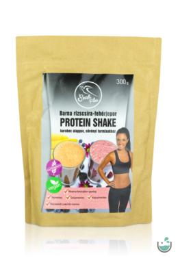 Szafi Free barna rizscsíra-fehérjepor protein shake karobos alappor 300 g (gluténmentes, vegán)