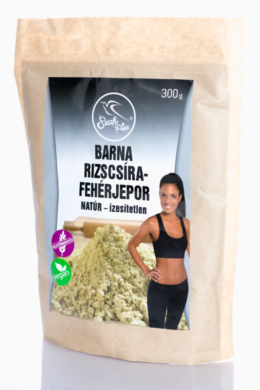 Szafi Free barna rizscsíra-fehérjepor natúr - ízesítetlen 300 g (gluténmentes, vegán)