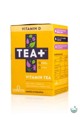 TEA+ D-vitamin Citromfű & Zöld tea (100% NRV D-VITAMIN)