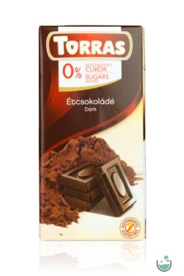 Torras étcsokoládé hozzáadott cukor nélkül (gluténmentes) 75 g