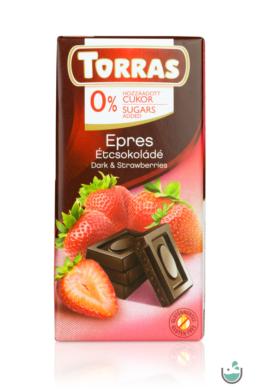 Torras epres étcsokoládé hozzáadott cukor nélkül (gluténmentes) 75 g