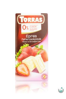 Torras epres fehércsokoládé hozzáadott cukor nélkül (gluténmentes) 75 g
