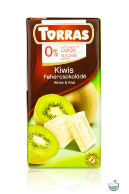 Torras kiwis fehércsokoládé hozzáadott cukor nélkül 75 g – Natur Reform