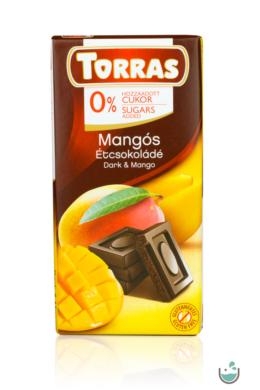 Torras mangós étcsokoládé hozzáadott cukor nélkül (gluténmentes) 75 g