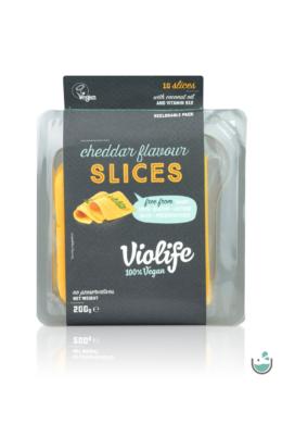 Violife cheddar ízesítésű szeletelt növényi sajt 200 g