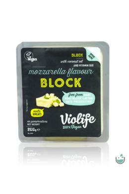 Violife mozzarella ízesítésű növényi sajt tömb 200 g