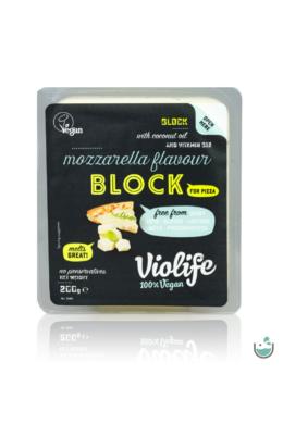 Violife mozzarella ízesítésű olvadós növényi sajt tömb pizzához 200 g