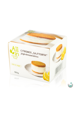 "ALL IN natural food Citromos ,,Sajttorta"" jégkrémszendvics 160 g"