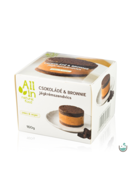 ALL IN natural food Csokoládé & Brownie jégkrémszendvics 160 g