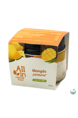 "ALL IN natural food Mangós ""túrótorta"" krémdesszert 130 g"