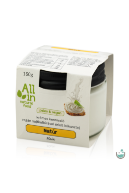 ALL IN natural food Natúr vegán sajtkrém 160 g