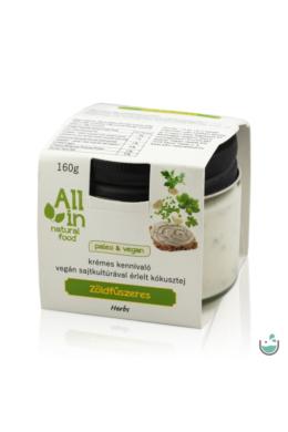ALL IN natural food Zöldfűszeres vegán sajtkrém 160 g