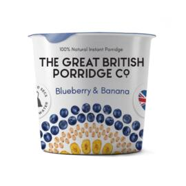 The Great British Porridge Áfonya & banán poharas instant zabkása 60 g – Natur Reform