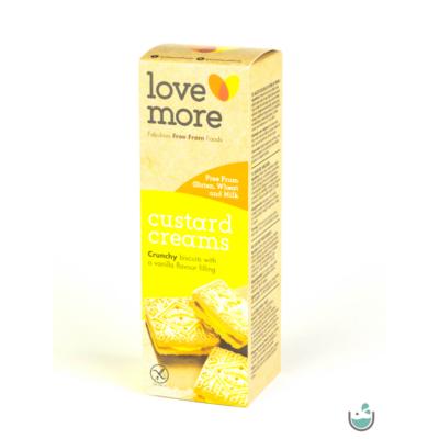 LoveMore vaníliás krémmel töltött keksz 125 g (gluténmentes, vegán)