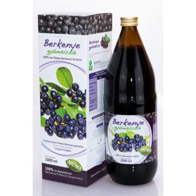 Mannavita Fekete Berkenye gyümölcslé 100%-os, 1000 ml