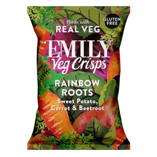 Emily Zöldség chips – Szivárványos gyökérzöldségek 23 g – Natur Reform