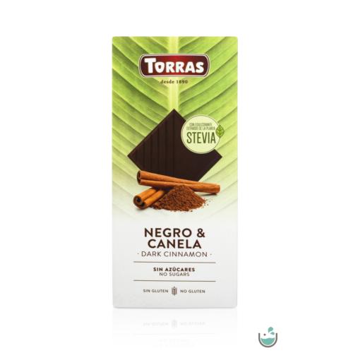 Torras Stevia Vegán fahéjas étcsokoládé 125 g – Natur Reform