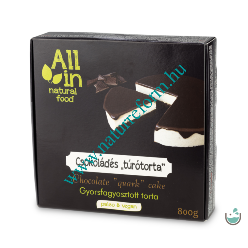 ALL IN natural food Csokoládés turótorta 800 g – Natur Reform