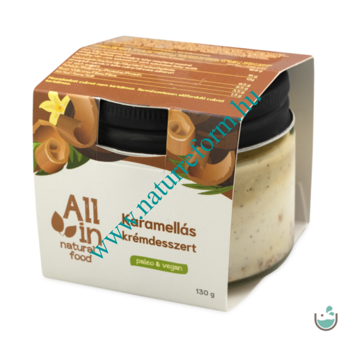 ALL IN natural food Karamellás krémdesszert 130 – Natur Reform