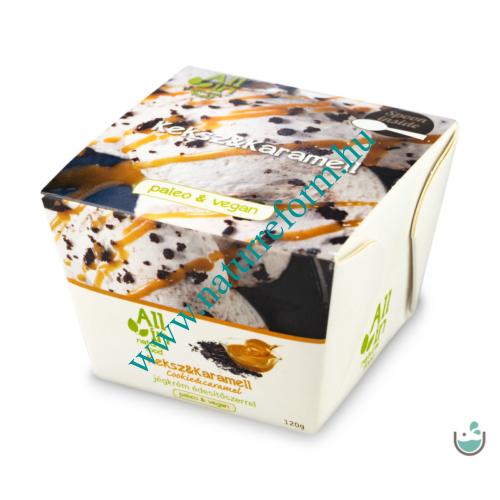 ALL IN natural food Keksz & karamell jégkrém 120 g – Natur Reform
