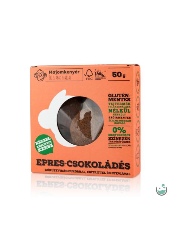 Majomkenyér epres-csokoládés keksz 50 g – Natur Reform